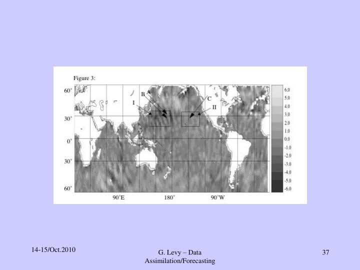 G. Levy – Data Assimilation/Forecasting