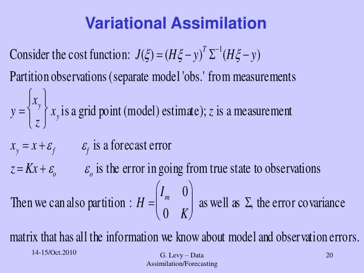 Variational Assimilation