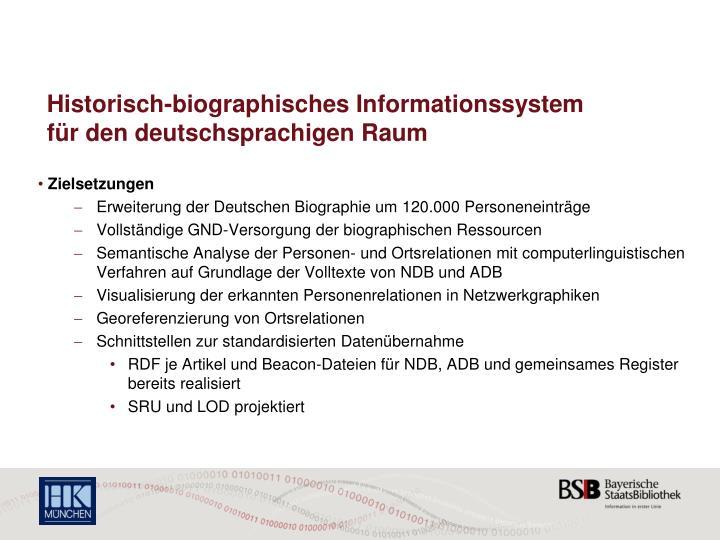 Historisch-biographisches Informationssystem