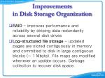 improvements in disk storage organization