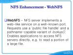 nfs enhancement webnfs