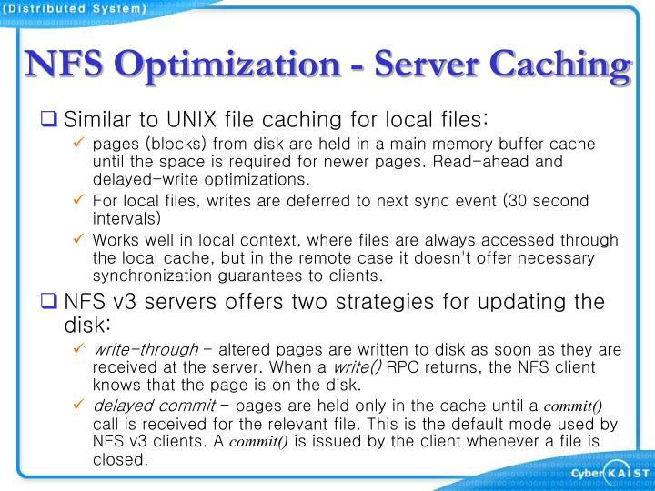 NFS Optimization - Server Caching
