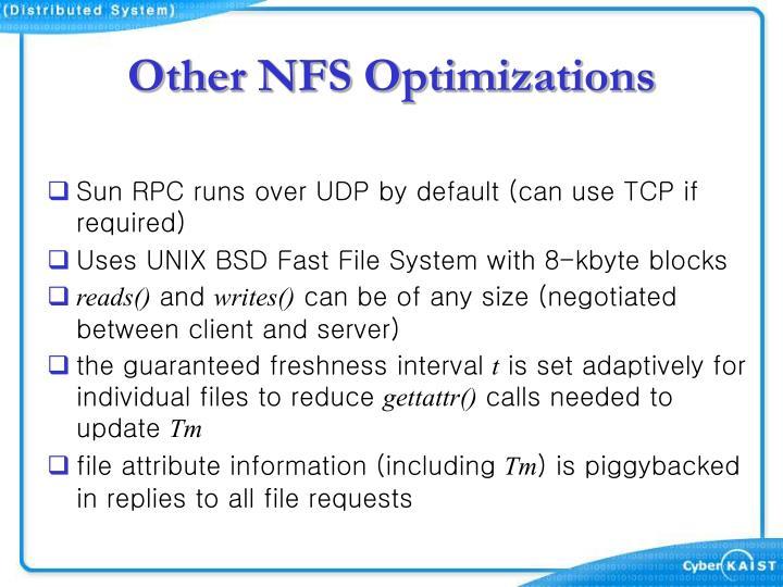 Other NFS Optimizations