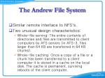 the andrew file system