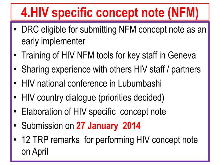 4.HIV specific concept note (NFM)