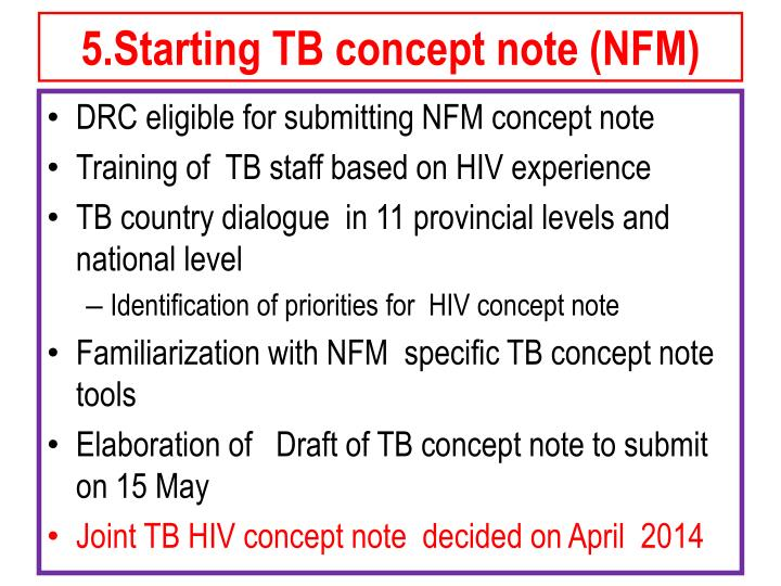 5.Starting TB concept note (NFM)