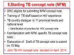 5 starting tb concept note nfm
