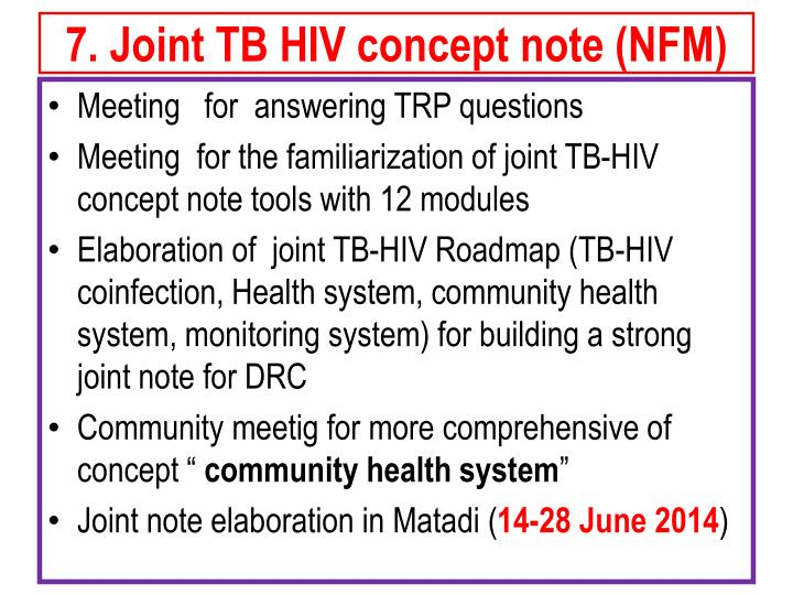 7. Joint TB HIV concept note (NFM)