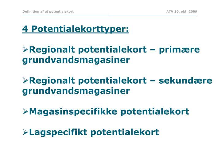 Definition af et potentialekort           ATV 30. okt. 2009
