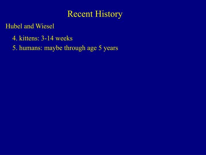 Recent History