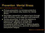 prevention mental illness