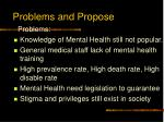 problems and propose