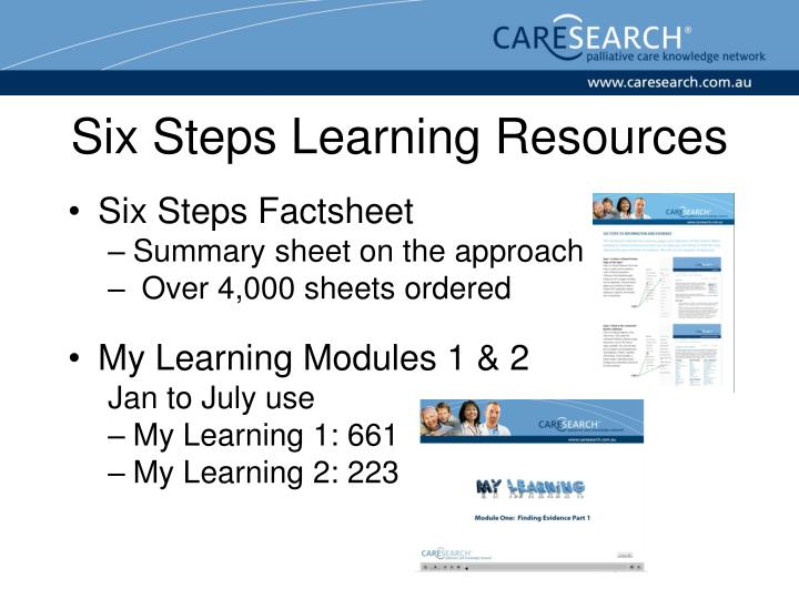 Six Steps Learning Resources