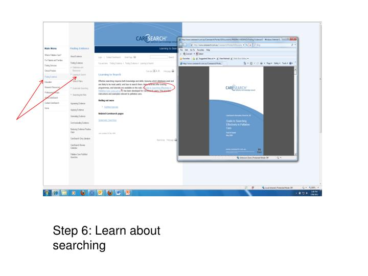 Step 6: Learn about searching
