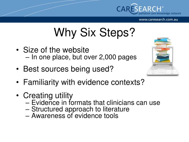 Why Six Steps?