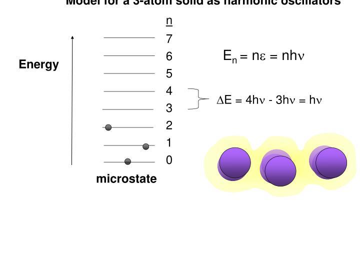 Model for a 3-atom solid as harmonic oscillators