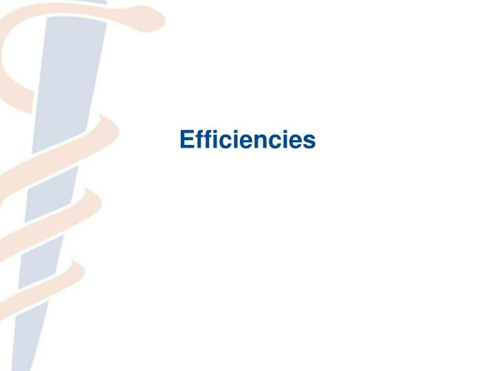 Efficiencies