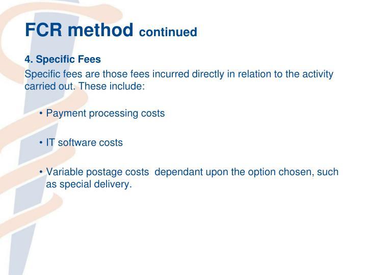 FCR method