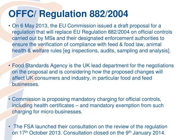OFFC/ Regulation 882/2004