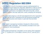 offc regulation 882 2004