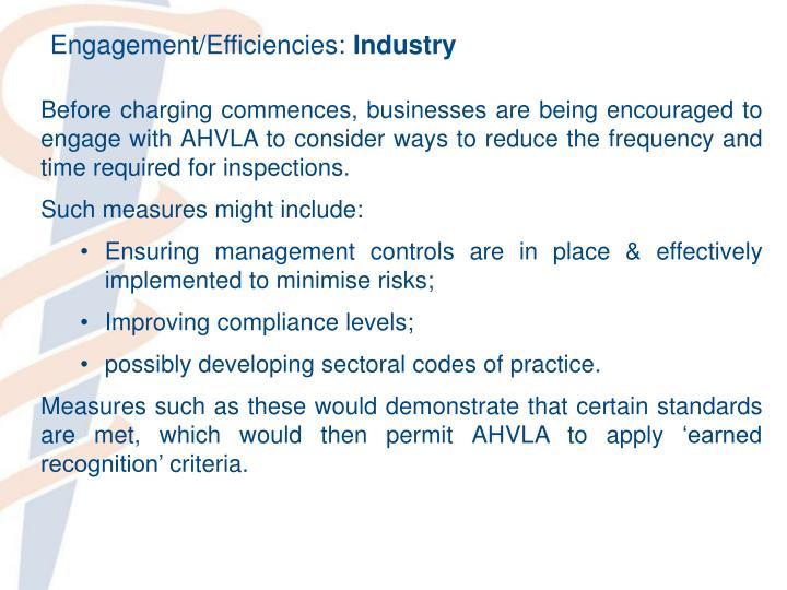 Engagement/Efficiencies: