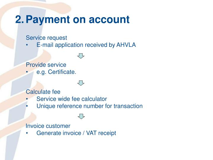 2.Payment on account