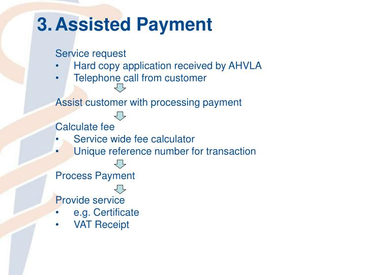 3.Assisted Payment