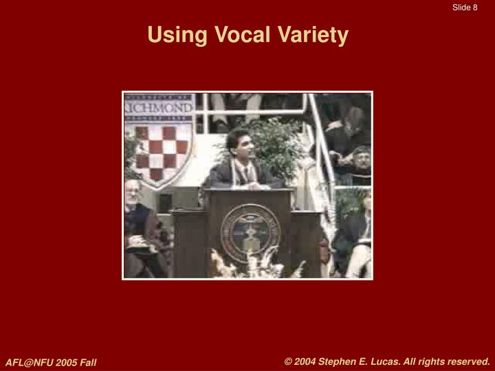 Using Vocal Variety