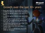 growth over the last 30 years