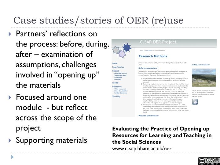 Case studies/stories of OER (re)use