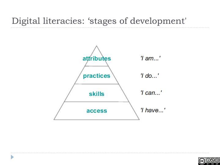 Digital literacies: 'stages of development'