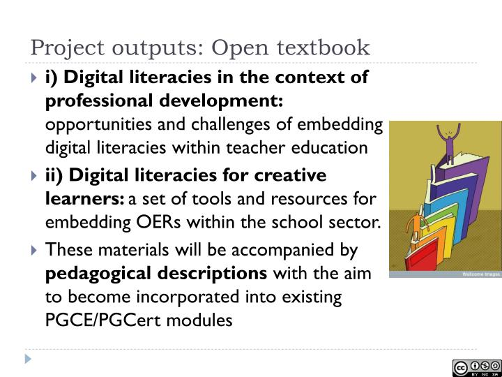 Project outputs: Open textbook