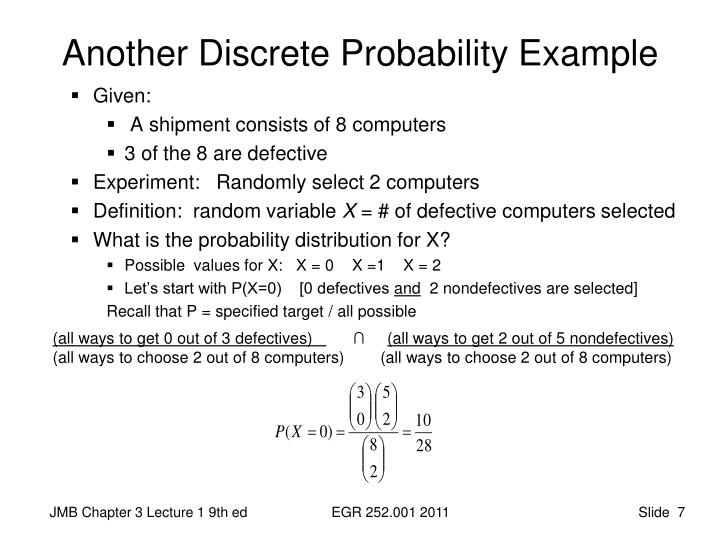 Another Discrete Probability Example