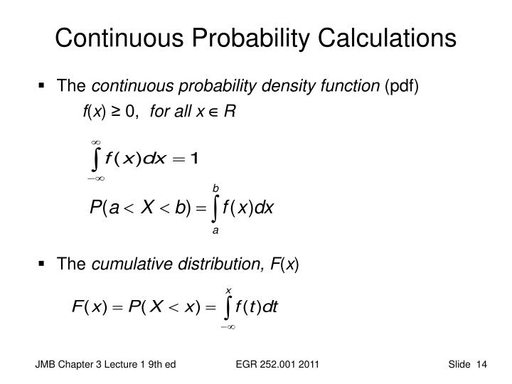 Continuous Probability Calculations