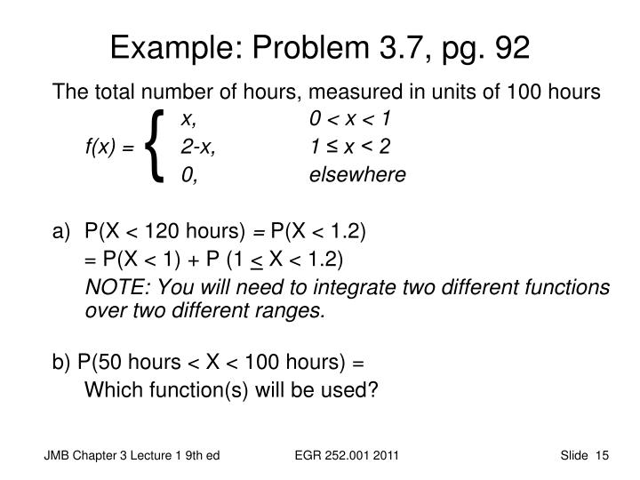 Example: Problem 3.7, pg. 92