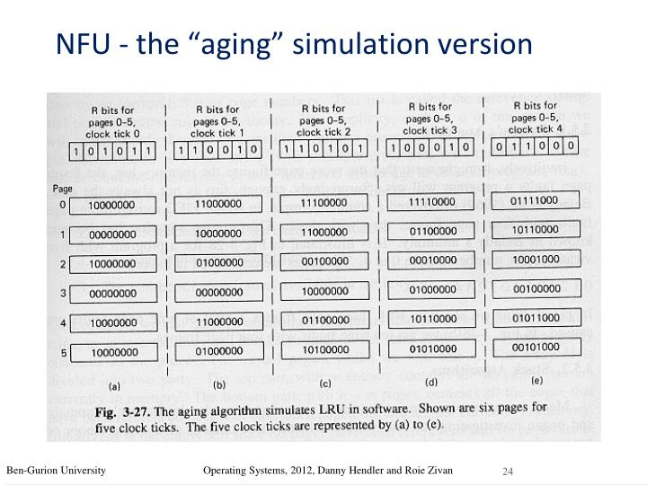 "NFU - the ""aging"" simulation version"