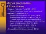 magyar programoz si dokumentumok