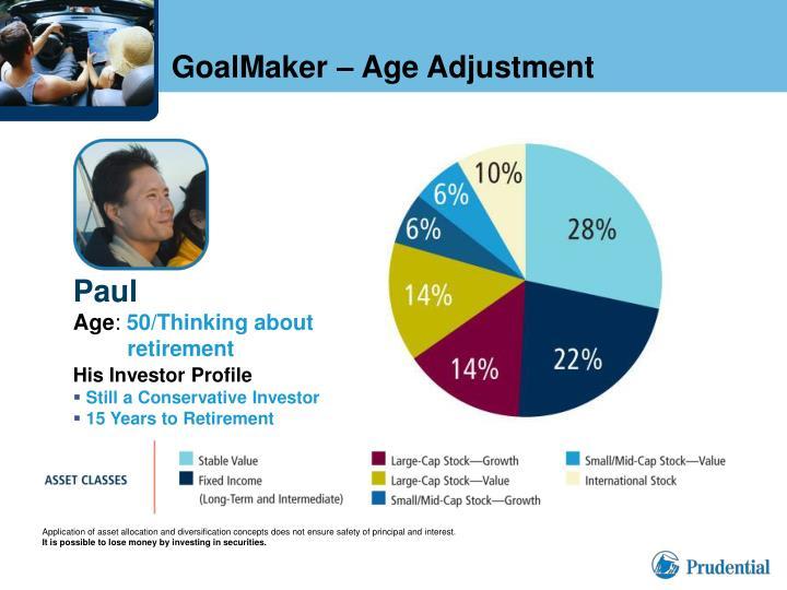 GoalMaker – Age Adjustment