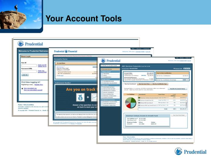 Your Account Tools