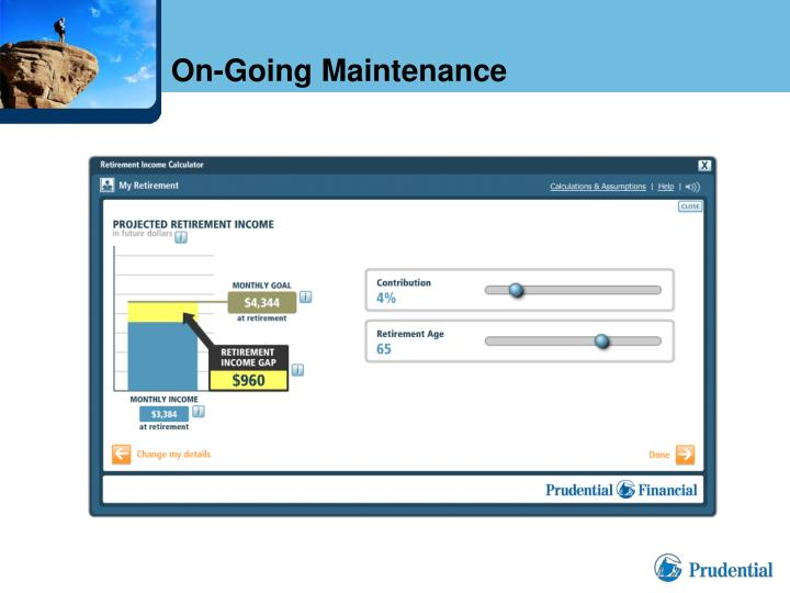 On-Going Maintenance