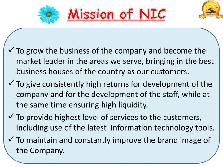 Mission of nic