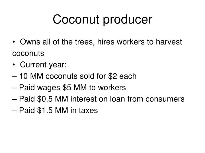 Coconut producer
