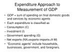 expenditure approach to measurement of gdp
