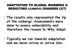 adaptation to global warming resulting climatic changes 3 7