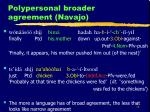 polypersonal broader agreement navajo