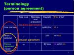 terminology person agreement