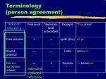 terminology person agreement1