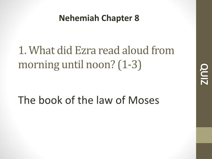 1 what did ezra read aloud from morning until noon 1 3