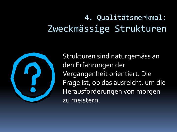4. Qualitätsmerkmal: