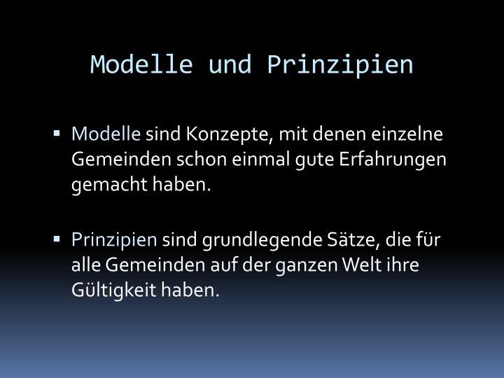 Modelle und Prinzipien